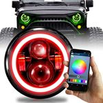 7 INCH ROUND COLOR CHANGING RGB HALO WIRELESS PROJ