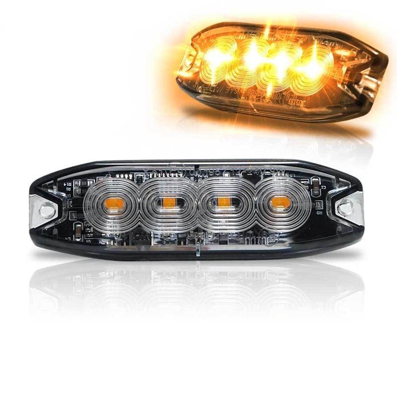 Surface Mount Pro Grade Amber LED Strobe Light 4 L