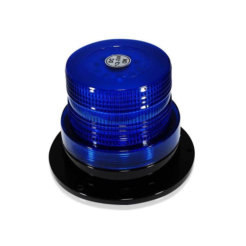 Blue LED Emergency Flash Strobe and Rotating Beaco