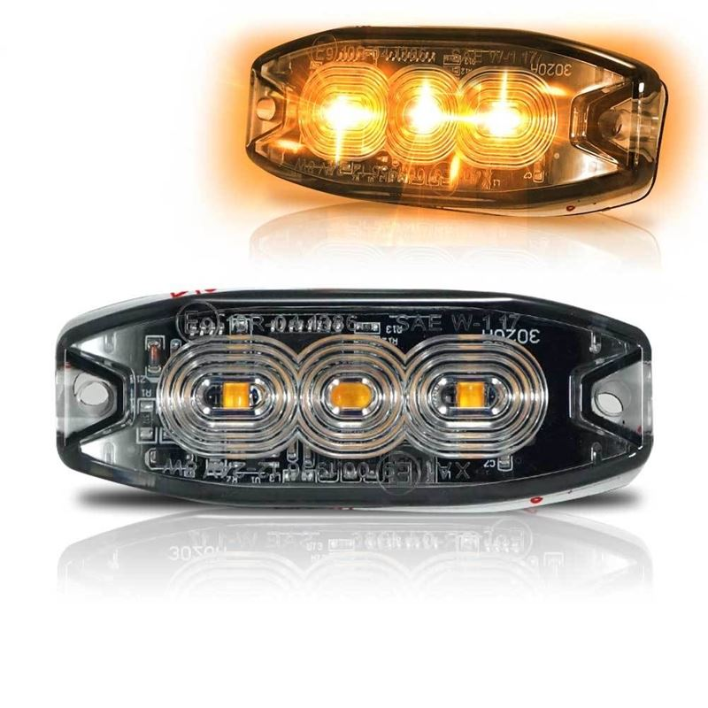 Surface Mount Pro Grade Amber LED Strobe Light 3 L