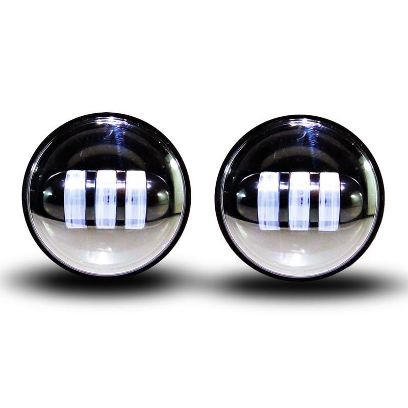 """GENSSI 4-1/2"""" BLACK LED AUXILIARY SPOT FOG PASSING"""